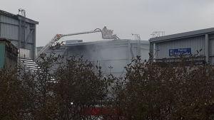 Explosion på Alholmens Kraft i Jakobstad.