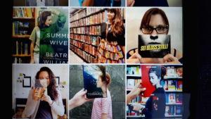 Foto av mobil som visar en bokbild på Instagram.
