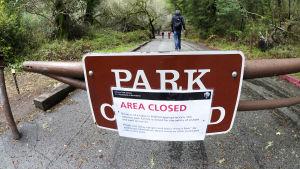 Stängd park i USA pga budgetgräl.