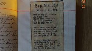 Dikten Bryt din boja av Jonas Jörgen Jauckens.