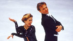 Petri Kokko och Susanna Rahkamo i EM 1995.