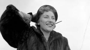 Sångerskan Vera Lynn ombord på Queen Mary i slutet av är 1951, på väg till USA.