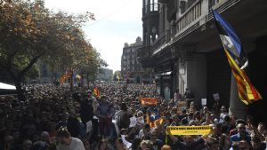 Demonstration i Barcelona den 20.09.2017.