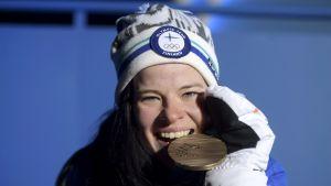 Krista Pärmäkoski med OS-brons 2018.