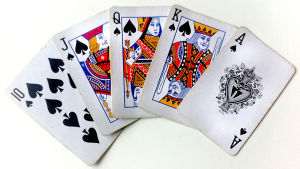 Spelkort av märket spader