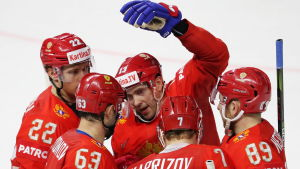 Ryssland jublar i hockey-VM 2018.