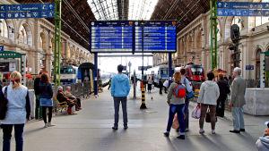 Tågstation i Budapest.