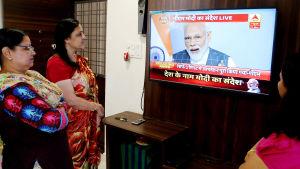Narendra Modi meddelade om satellitnedskjutningen i ett tal till nationen