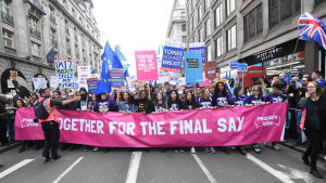 Stor brexitdemonstration i London 19.10.2019