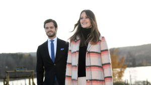 Den här bilden på prinsessan Sofia och prins Carl Philip togs den i slutet av oktober i fjol.
