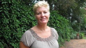 Finlandssvenska Annika Haslecker bor i Sydafrika