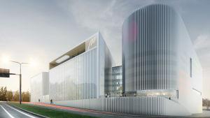 Yrkeshögskolan Metropolias nya kampus i Kvarnbäcken.