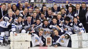 Finlands damer vann VM-brons i Malmö 2015.