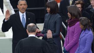 Barack Obama svär presidenteden 21.1. 2013