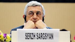 Armeniens före detta president Serzj Sargsian.