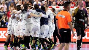 Montpellierspelare jublar