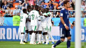 Senegal firar mål i fotbolls-VM.