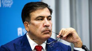 Bild på Mikhail Saakashvili, före detta president i Georgien.