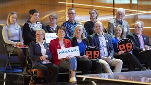 Anna-Maja Henriksson puoluejohtajien vaalitentissä Yle, 18.03.2019