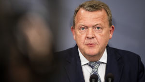Danmarks statsminister Lars Løkke Rasmussen höll en presskonferens med anledning av attentaten i Sri Lanka på söndagen.