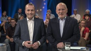 Manfred Weber och Frans Timmermans.