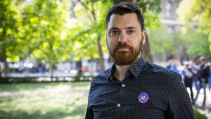 Unkarilainen opposition edustaja Balazs Nemes