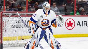 Christopher Gibson fick visa upp sig i NHL.