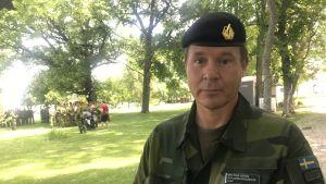 Mattias Ardin, chef för Gotlands regemente.