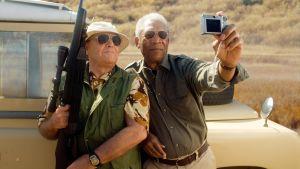Jack Nicholson och Morgan Freeman i filmen The bucket list 2007.