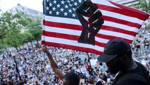 Lördagens demonstrationer i Washington var massiva.