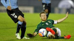 Steven Davis är kapten för Nordirland.