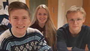 Klas Fjällström, Jennifer Honkala, Tobias Björkqvist
