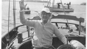 FDR sailing from Marion, MA to Campobello aboard the Amberjack II. June 1933