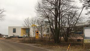 Platsen där hotell Regattas annex ska byggas.