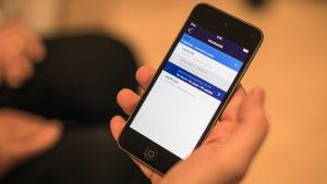 App i smarttelefon.