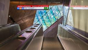 Aalto-universitetets metrostation.