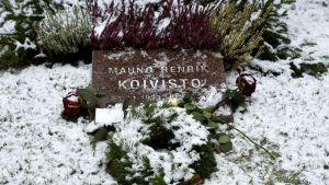 President Mauno Koivistos grav i Helsingfors.