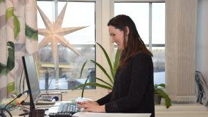Jennie Isaksson-Lindström jobbar på bokförings- och disponentbyrån Papper och hus.