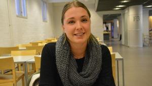 Erika Granqvist, ordförande för Finlands svenska lärarstuderandes förening.