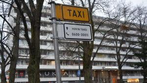 Taxistolpe i Vasa.