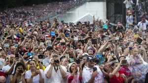 Publiken på självständighetsfesten i Washington.