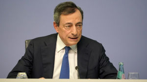 Mario Draghi under sin sista presskonferense som ECB-chef den 24 oktober 2019.