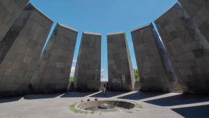 Minnesmärket för folkmordet på armenier i Armeniens huvudstad Jerevan