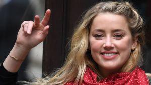 Amber Heard anläner till rättegången den 23 juli 2020