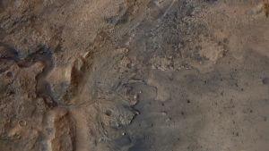 Meteoritkratern Jezero på Mars.