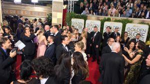 Röda mattan på Golden Globe.