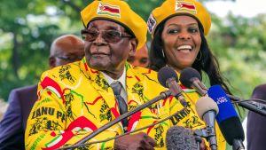 Robert och Grace Mugabe 8.11.2017