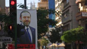 Saad al-Hariri på en skylt i Libanon.