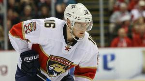 Aleksander Barkov har gjort 27 poäng på 36 NHL-matcher den här säsongen.