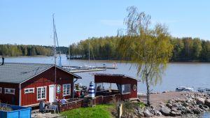 Cafeet Hammars Seo i Brogå från baksidan